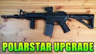 Airsoft - PolarStar PR-15 Internal Upgrade: R-Hop & Orga Barrel (SC Village Gameplay/Commentary)