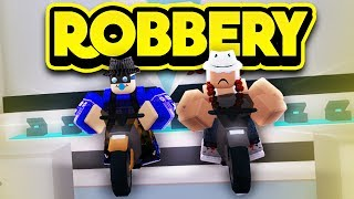 ROBBING THE JEWELERY STORE ON MOTORCYCLES! (ROBLOX Jailbreak)
