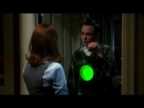 The big bang theory: Sheldon almost has sex (green lantern) clip