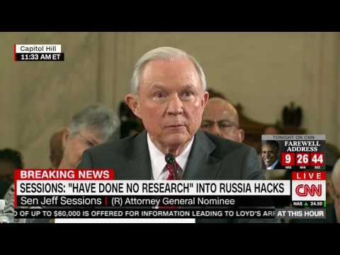 Lindsey Graham grills Jeff Sessions on Russian hacking