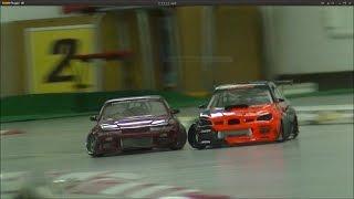 PLUSDサーキット 土D 2WD DRIFT 追走 ローアングル撮影  インプ S13 RWD DRIFT RC