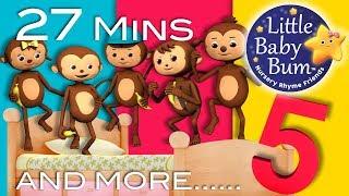 """""""Five Little Monkeys"""", """"Five Little Ducks"""", Plus More """"Five Little"""" Nursery Rhymes by LittleBabyBum!"""