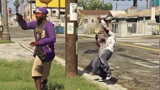 GTA 5 - ragdoll mod (Euphoria) kill compilation #18 (Gangs/Drive by/ballas/grove street)