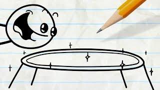 Pencilmate Finds a Trampoline! -in-