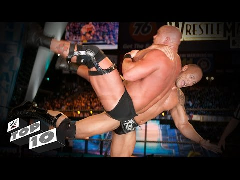 The Rock's most iconic Rock Bottoms: WWE Top 10