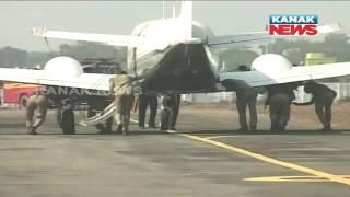 Policemen Push CM's Aircraft In Rourkela
