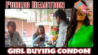 Girl Buying CONDOM   Public Reaction   Being MastiHolic