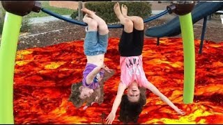 Floor is Lava Challenge at the Park!