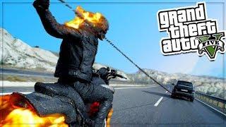 GTA 5 Ghost Rider Mod - Thử nghiệm ma tốc độ biến các loại xe thành lửa   ND Gaming