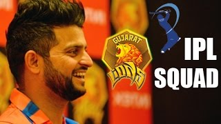 Suresh Raina's IPL Team 'Gujarat Lions' SQUAD & Auction Amount | IPL 2016 | Cricket Fan Club