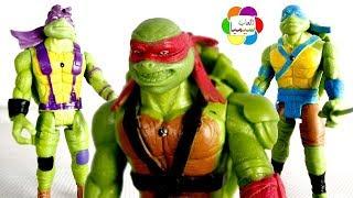 لعبة سلاحف النينجا الاصليين الجديدة للاطفال العاب شخصيات خارقة بنات واوالاد ninja turtles toy set