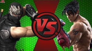Ryu Hayabusa (Ninja Gaiden) VS Devil Jin (Tekken)! Cartoon Fight Night Episode 11!