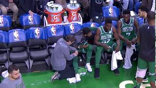 Jaylen Brown is not trying to hear what Kyrie has to say.