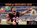 2018 Fantasy Football Lineup Advice  - Week 15 RB's Start/Sit Episode