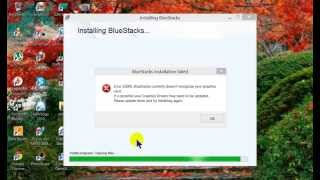 Fixed Bluestacks error 25000 without Updating Card video Driver