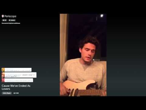 John Mayer on Periscope plays a super chill Slow Dancing In A Burning Room 9815