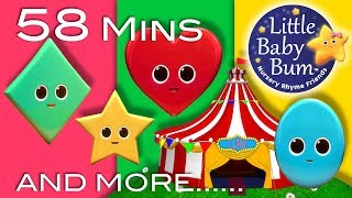 Songs About Shapes   Plus Lots More Nursery Rhymes   58 Minutes Compilation from LittleBabyBum!