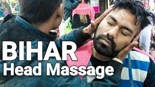 ASMR Bihar head massage with neck Cracking by Barber RamKalewar.