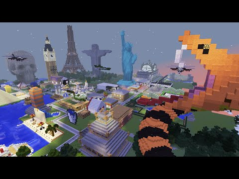 Xxx Mp4 Mapa Cidade Minecraft Cristo Redentor Torre Eiffel Cinema E Muito Dawnload 3gp Sex