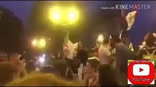 كأس العالم2018: جزائري يحتفل مع فرنسيين لصعود منتخبهم للنهائي فضربوه و مزقو العلم الجزائري