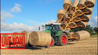 World Amazing Modern Agriculture Equipment and Mega Machines: Hay Bale Handling Tractor, Loade #SON