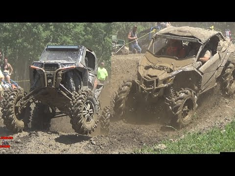 CAN-AM VS POLARIS LIFTED VS NON LIFTED SXS MUD BOG