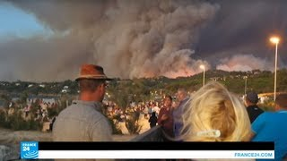 إجلاء آلاف المصطافين إثر اندلاع حريق جديد جنوب فرنسا