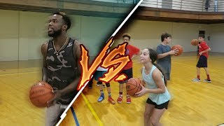 GETTING CHALLENGED BY A 13 YEAR OLD FEMALE SHARP SHOOTER FOR PAIR OF SNEAKERS