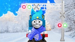 ☃️ Thomas The Tank Engine And Friends Winter Snowball Fight Finger Family Song ❄️
