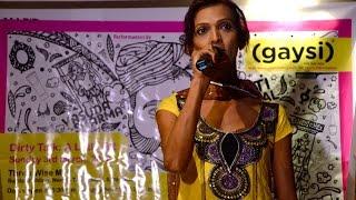 Transgender Rights Activist Urmi Performs At Dirty Talk (Open Mic)