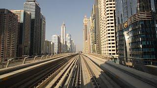 Dubai metro 2014 in HD - ride from Dubai Marina to WTC