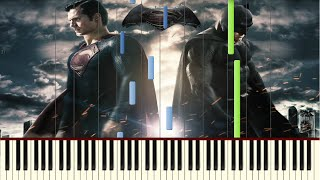 Batman vs Superman - The Red Capes are Coming (Lex Luthor's Theme) - Piano tutorial (Synthesia)