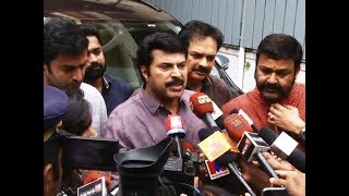 Dileep removed from AMMA: Mammootty announces after meeting