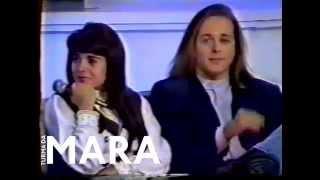 Mara Maravilha e Marcelo no programa da Hebe em 1993.