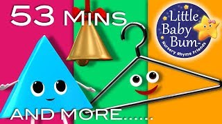 Triangle Song | Plus Lots More Nursery Rhymes | 53 Minutes Compilation from LittleBabyBum!