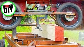 Sawmilling Spruce - Homemade Sawmill #22