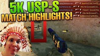 CS:GO 5k USP-S only Headshot - Der Boi am Tragen! Match Highlights