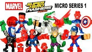 Avengers Marvel Super Hero Mashers Micro Series 1 Captain America Spider-Man Unboxing