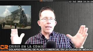 CRISIS EN LA CDMX  🏨 CENTRO COMERCIAL SE COLAPSA HAY RIESGOS MAYORES