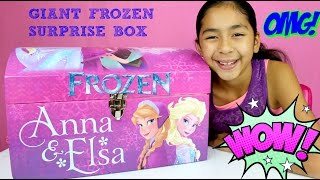 HUGE FROZEN SURPRISE BOX!! MLP Surprise Eggs Nemo Shopkins Crayola Maker Kids Activities|B2cutecup
