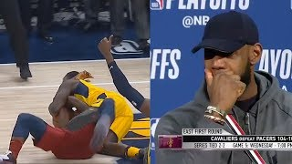 Lance Stephenson CLOWNS The Entire Cavs Team! Lebron James & J.R. Call Him Out!