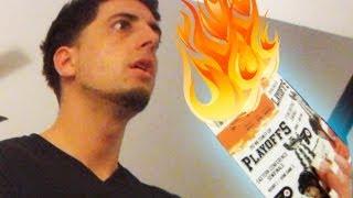 BURNING PLAYOFF TICKETS PRANK  PrankvsPrank
