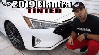 Tinting a White 2019 Hyundai Elantra in 50% Window Tint