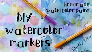 DIY: Homemade WATERCOLOR MARKERS. How to make WATERCOLOR paint + DECORATIVE PAPER IDEAS