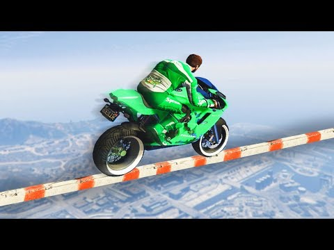WORLDS MOST IMPOSSIBLE TIGHTROPE GTA 5 Funny Moments