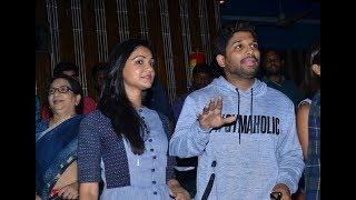 Allu Arjun With his Wife Sneha Reddy Watched DJ | dj Allu Arjun