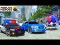 Download Video Download Police Car, Helicopter, Fire Truck pretend to catch Sports Car | Wheel City Heroes (WCH) New Cartoon 3GP MP4 FLV