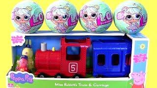Bonecas LOL Surpresa com o novo Trem da Peppa Pig Miss Rabbit Train & Carriage ToysBR