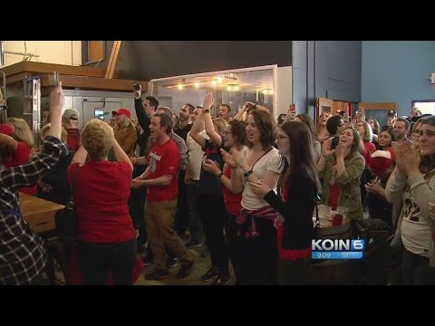 Gonzaga fans celebrate big win and trip to Championship