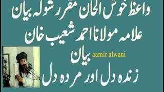 Allama Molana Ahmad Shoaib Khan Bayan zinda Dil Aur Murda Dil زندہ دل ار مردہ دل